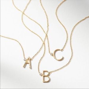 Anthropologie Monogram Necklace
